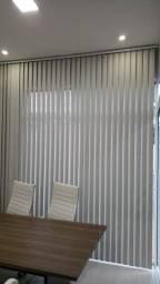 Persiana vertical PVC liso (2.47m x 2.95) - cor gelo