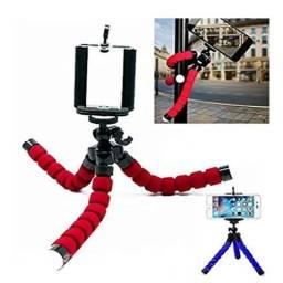 Suporte celular tripé câmera pequeno articulado flexível.