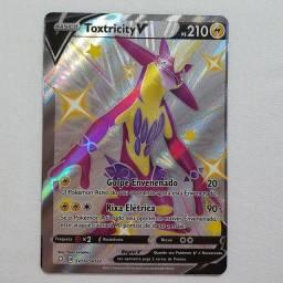 Carta Pokemon Ultra rara Toxtricity V + 10 CARTAS