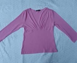 Blusinha rosa com remendo fofo