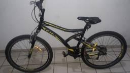 Bicicleta Aro 26 Mountain Bike Caloi Andes 21 Marchas Suspensão Dianteira