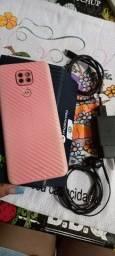 Moto g9 rosa quartzo um mês de uso