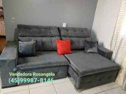 Sofa retratil e Reclinável Com 2,40 m