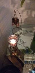 Decoração Romântica: Porta vela e enfeite de ferro