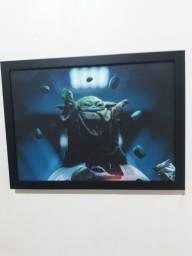 Título do anúncio: Vendo quadro do Yoda
