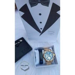 Kit Relógio Masculino Faço entrega