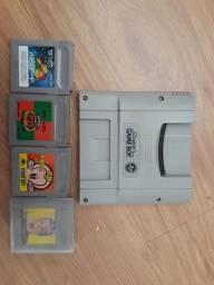 Adaptador com jogos Nintendo Super Famicon