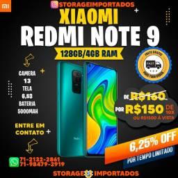 xiaomi readmi 9 128gb - 4gb Ram - Novo + Nota + Garantia + Entrega Grátis