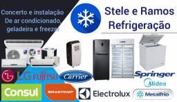 Título do anúncio: Conserto de geladeira, freezer e ar condicionado