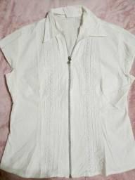 Camisa branca Tam M slim com elastano