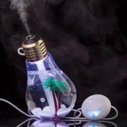 Lâmpada umidificador essência iluminado