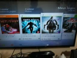 Xbox 360 com 27 jogos