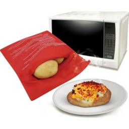 Saco para assar batata, legumes no micro-ondas em Poliéster ? Clink
