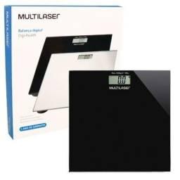 Balança Digital Digi-Health Multilaser Até 180Kg Visor LCD Bateria Vidro Temperado
