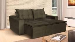 Sofá retrátil e reclinável com 4 rodizios por modulo - direto da fábrica