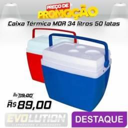 Caixa Térmica 34 Litros MOR Azul ou vermelha