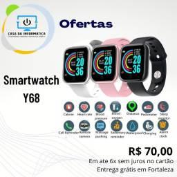 Smartwatch Y68 Novo - Parcelamos no Cartão - Entrega Grátis Fortaleza