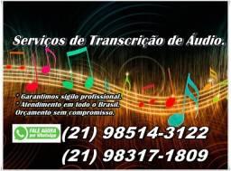 Transcrição de Áudio P/ Texto R$ 60,00