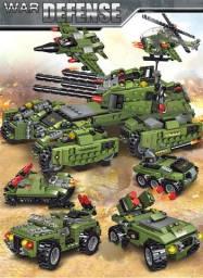 Lego 710PCS Blocos de Construção, Tanque, Veículo, Aeronave, Novo, Tipo Lego