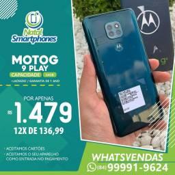 Motorola Moto G9 PLAY (64GB - DUAL CHIP, LACRADO+NOTA FISCAL) CAMERA TRIPLAS 48MP