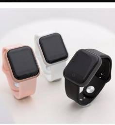 Relógio inteligente smartwatch D20 y68 ROSA Preto e branco