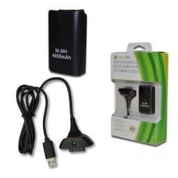 Kit Carregador E Bateria Para Controle Xbox360 48000mah En007