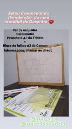 Título do anúncio: Prancheta A3 da Trident+ outros materiais