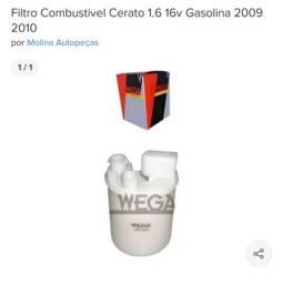Filtro combustivel cerato i30