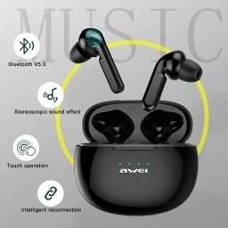 Título do anúncio: Fones de ouvido sem fio original Awei r$250,00 passo cartão com acréscimo. ENTREGO