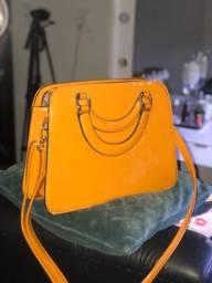 Título do anúncio: Bolsa amarelo mostarda envernizada