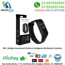 996 - Relógio Smartwatch Pulseira Inteligente M4 Monitor Cardíaco