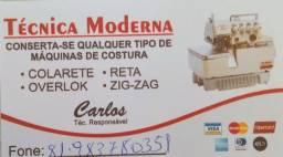 Título do anúncio: CONSERTO DE MÁQUINAS DE COSTURAS