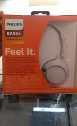 Headphone Bluetooth Philips Bass+ SHB3075WT/00 com Microfone, Branco