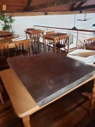 Mesa aquecedora para restaurante em inox