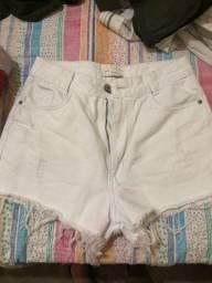 Título do anúncio: DESAPEGO Short branco 38 TLF Jeans