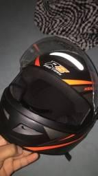 Título do anúncio: Capacete R8 laranja