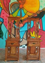 Chapeleira Rústica Amélie em Madeira de Demolição - Cód 2234