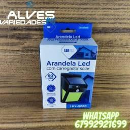 Título do anúncio: Arandela Led com carregador solar 60 LEDs LKY-0060