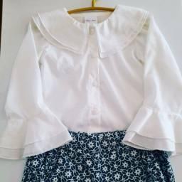 Body camisa + calça Primo Amore Tam 1