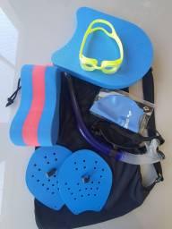 Título do anúncio: Kit natação palmar pullboia prancha snork touca óculos sacola