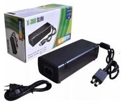 Fonte Xbox 360 2 Pino Bivolt 110v 220v 203w + Cabo Força
