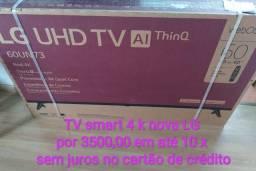 TV lg Smart 60 polegadas 4k nova por 3100 em dinheiro ou 3500 em até 12x no cartão