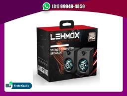 Título do anúncio: Caixinha De Som Pc Notebook Game Lehmox Gt-s1 Rgb