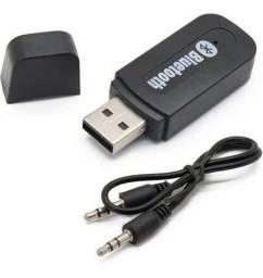 Adaptador Bluetooth Music Receiver Usb P2 Yet-m1 Preto<br><br>