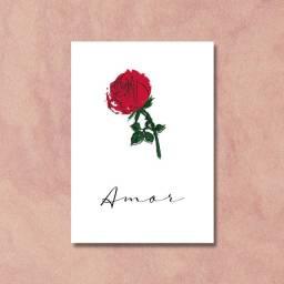 Placa Decorativa Amor e Flor