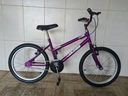 Bicicleta aro 20 nova menina violeta