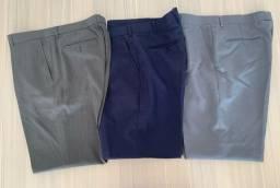 3 calças sociais 46