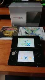 Nintendo 3DS (destravado) com caixa, 2 Jogos físicos + 32gb