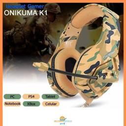 Fone de Ouvido Headset Gamer Onikuma Camuflado P2 PS4 XBox PC Celular