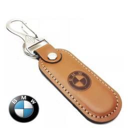 Chaveiro Mosquetão BMW em Couro Fiat Ford - Novo